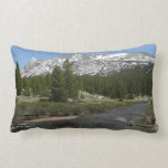High Country Mountain Stream II Yosemite Park Lumbar Pillow