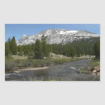 High Country Mountain Stream II Yosemite Park Rectangular Sticker
