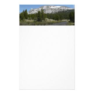 High Country Mountain Stream II Yosemite Park Stationery