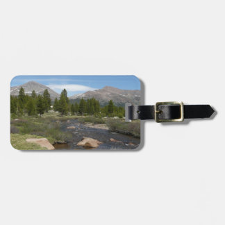 High Country Mountain Stream III Yosemite Park Tags For Luggage