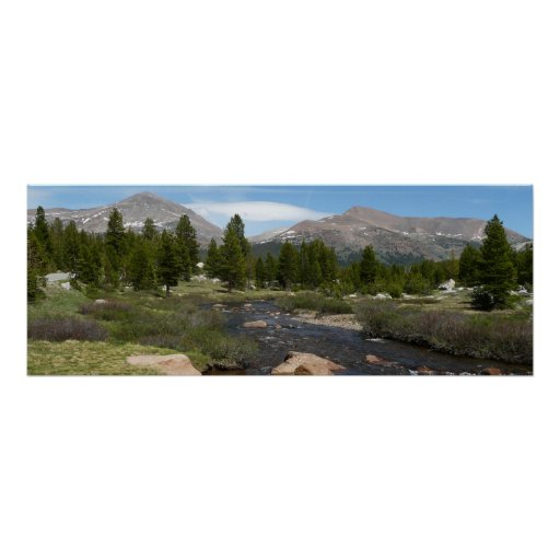 High Country Mountain Stream III Yosemite Park Poster