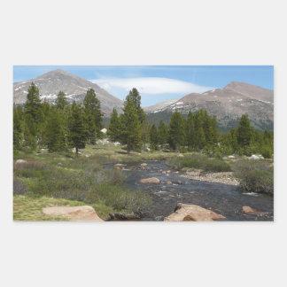 High Country Mountain Stream III Yosemite Park Rectangular Sticker