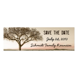 High Country Save the Date Bookmark Card Mini Business Card