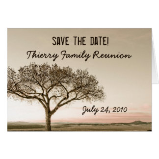 High Country Save the Date Family Reunion Card