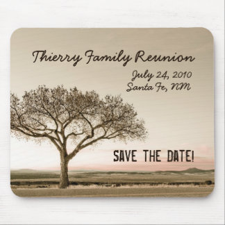 High Country Save the Date Family Reunion Mouse Pad