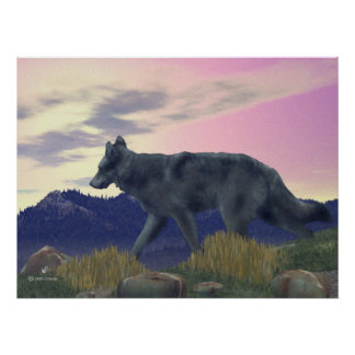 High Country Wolf Poster