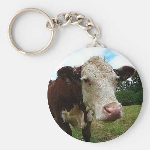 Zazzle High Def Hereford Keychain