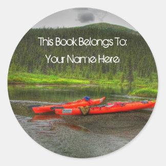 High Def Kayak; Mailing Necessities Round Sticker