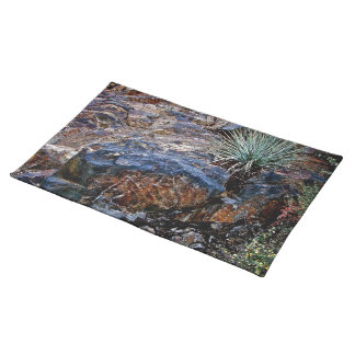 HIGH DESERT COLORFUL ROCKS WITH CACTUS PLACEMAT