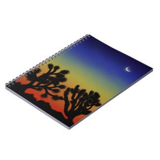 High desert sunset notebook