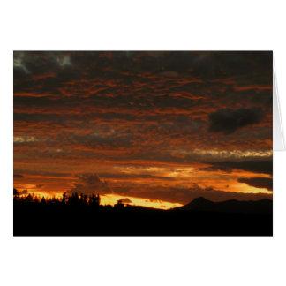 High Desert Sunset - Notecard Greeting Cards