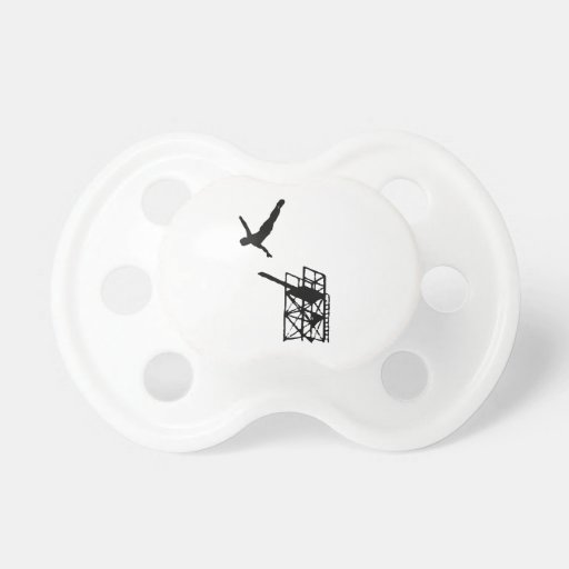 High Diving Silhouette Pacifiers