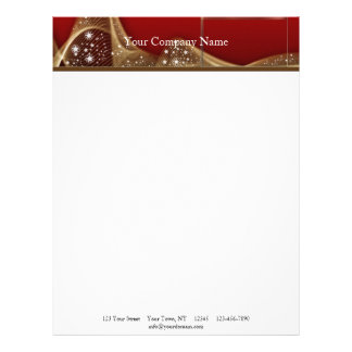 High Drama in Red and Gold Personalized Letterhead