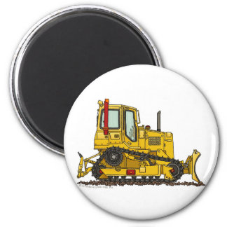 High Drive Bulldozer Dirt Mover Construction Magne 2 Inch Round Magnet