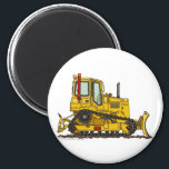 """High Drive Bulldozer Dirt Mover Construction Magne Magnet<br><div class=""""desc"""">&quot;Sandboxes to construction sites,  boys of all ages like heavy equipment!  Zazzle is proud to offer this large selection of customizable items with this high drive bulldozer image by artist Richard Neuman. His uniquely styled images combining detail with a touch of whimsy is collected worldwide.&quot;</div>"""