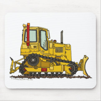 High Drive Bulldozer Dirt Mover Construction Mouse Mouse Pad
