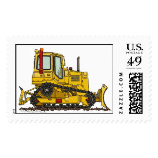 High Drive Bulldozer Dirt Mover Construction Stamp