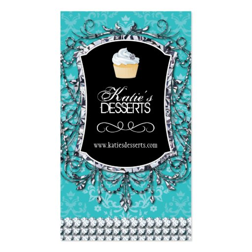 High End Cupcake Bakery Business Card (front side)