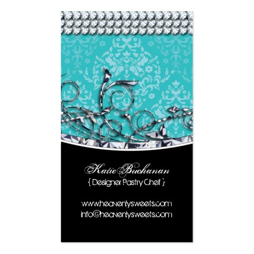 High End Cupcake Bakery Business Card (back side)