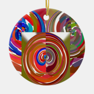 High Energy Color Mania Circles Christmas Tree Ornament