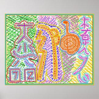 High Energy Healing Symbols Poster