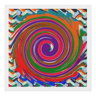 High Energy Revolution Twirl FineArt Waves Panel Wall Art