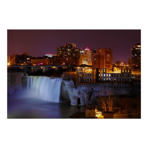 High Falls in Downtown Rochester New York Poster