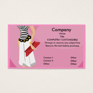 High Fashion Boutique Business Card template
