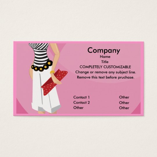 High fashion boutique business card template zazzlecom for Fashion business card template