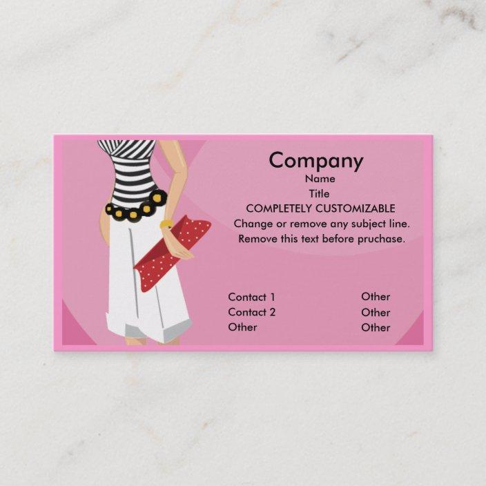 High Fashion Boutique Business Card Template Zazzle Com