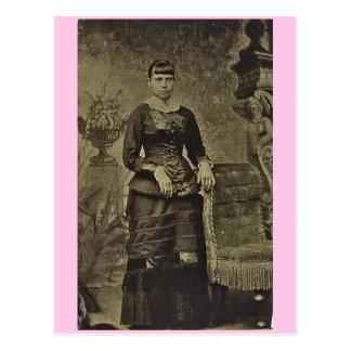 High Fashion Portrait circa 1870 Postcard