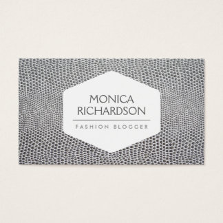 HIGH FASHION, STYLIST, BLOGGER, SNAKESKIN PRINT BUSINESS CARD
