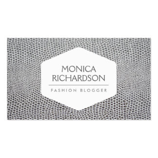 HIGH FASHION, STYLIST, BLOGGER, SNAKESKIN PRINT Double-Sided STANDARD BUSINESS CARDS (Pack OF 100)