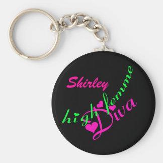 High Femme Diva Customizable Key Chain