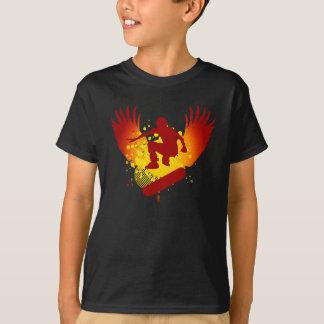 high-fi skateboarding. sunset fade. T-Shirt