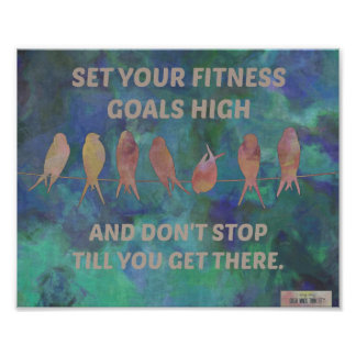 High Fitness Goals: Birds and Blues Posters