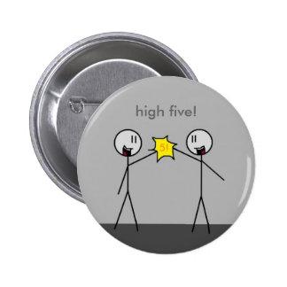 high five! pinback buttons