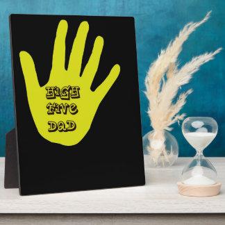 High Five Dad Hand Photo Plaque
