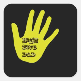 High Five Dad Hand Square Sticker