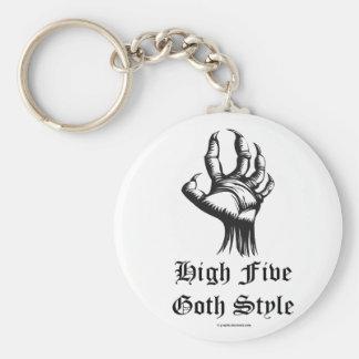 High Five, Goth Style Keyring Basic Round Button Keychain