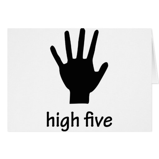 high five hand greeting card