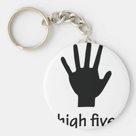 high five hand keychain