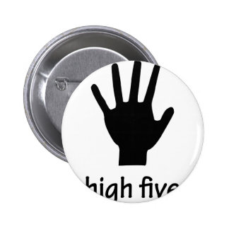high five hand pinback button