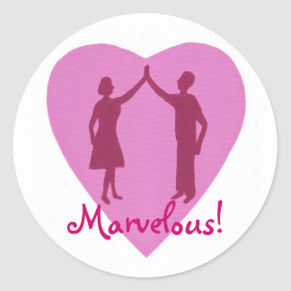 High Five male and female, Marvelous stickers