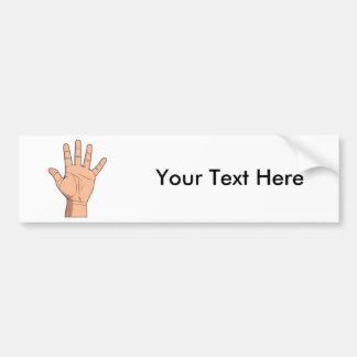 High Five Open Hand Sign Five Fingers Gesture Bumper Stickers