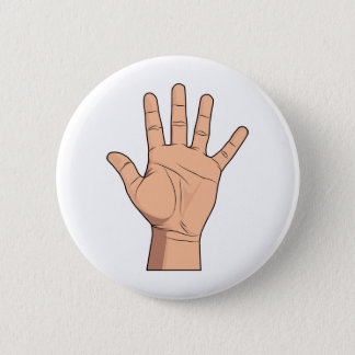 High Five Open Hand Sign Five Fingers Gesture Button