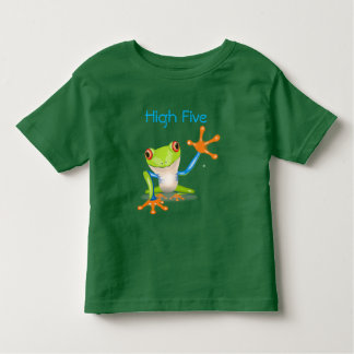 High Five Orange and Blue Funny Frog Shirt