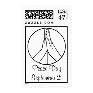 High five Peace Day, postage stamps
