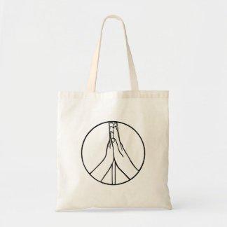 High Five Peace Sign Drawing Canvas Bags