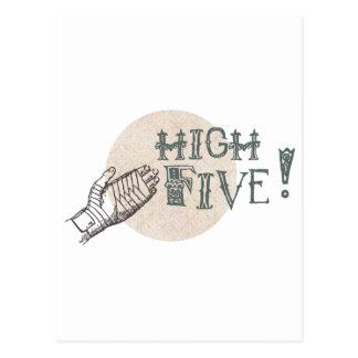 high five! postcard